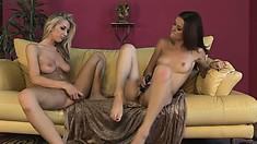 Karlie and Sammie share tender kisses and touches and enjoy moments of passion