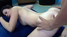 Veronica experiences pure pleasure with every thrust of cock in her cunt doggy style