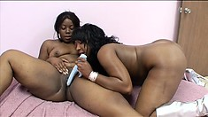 It is Marshae's turn to use the toy on Tifffany Stacks' pussy