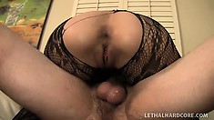 Wild brunette Cytherea enjoys a hard fucking and releases her juices all over his cock