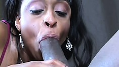 Carmen Hayes is a voluptuous ebony babe eager to get fucked by a huge black dick