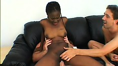 It's a double dose of vanilla for this chocolate honey in a MMF three way