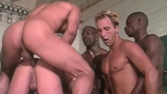 Sweet decent guy is turned into obsessed anal slave during group sex