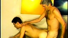 Some young tight butthole gets broken in by an older man's cock
