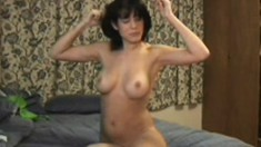 Dirty Jessie bares her perfect pair of titties for the camera
