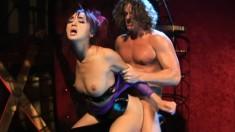 Katsuni succumbs to pleasure as a long stick deeply invades her butt
