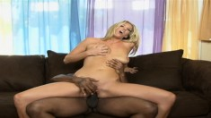 Stunning Jordan Kingsley plays out her fantasies with a hung black man