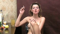 Pretty Nadia loves to drink vermouth and to please her lovely snatch