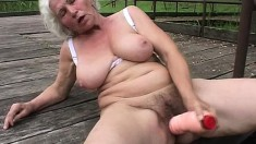 Lusty grandma uses her mouth to make this dick shoot its warm juices