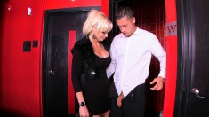 Bodacious blonde milf seduces a young man to fulfill her sexual needs
