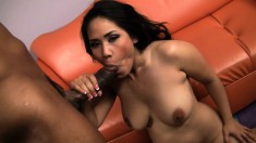 Bodacious Jessica Bangkok has a big black rod making her pussy all wet