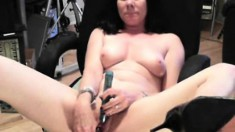 Captivating brunette does a striptease on webcam to reveal her sweet pussy