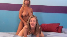 Bridgette and Kloe explore their lesbian fantasy and enjoy a hard dick