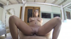 Voluptuous beauty Keisha exposes her body and gets drilled for money