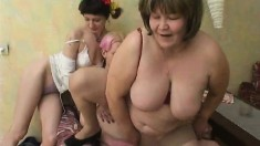 Nasty Bitches In Stockings Hard Fucked In Group Sex