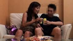 Mature Japanese Rina Tachikawa Exposing Hairy Cunt