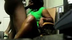 Big Tit Ebony BBW vs Big Black Cock