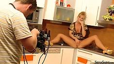 Silvia Saint seduces the camera during a sensual solo performance