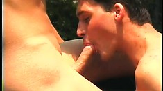 Naughty twinks fuck each other's tight asses raw inside of a barn