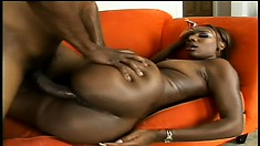 Gen and her big booty chokes down his big pecker and gets drilled