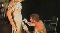 Handsome men with big cocks get messy whole they fuck each other