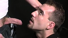 Ex-Army guy trades sucking dick and gets it shoved up his tender butt