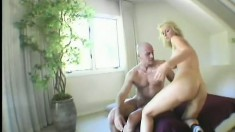 Sexy blonde with huge tits really wants his cock in her rectum