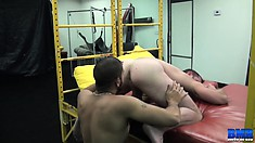 Sebastian Rio and Morgan Black enjoy a bit of ass-drilling fun