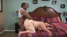 Chunky Victoria Secret seduces a black stallion to satisfy her wishes