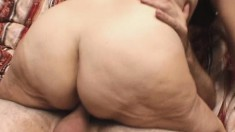 Lustful granny plays out her wild sexual fantasies with a younger guy