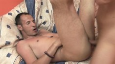 Cute Gay Stud Getting His Butt Pounded Bareback And Filled With Cum