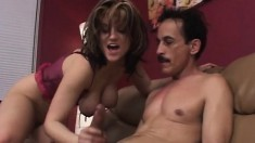 Buxom blonde with a fantastic ass Tyla gets nailed by a dirty old man