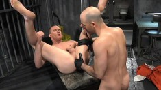 Two kinky gay friends fulfill their fisting fetish fantasy in prison
