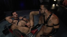 A little gay S & M action with deep ass fisting in the dungeon