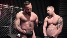 Two Ripped And Tattooed Hunks Get Naked Together For A Sounding Session