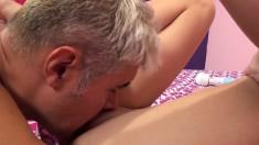 Pretty young babe with a fabulous ass Maci Winslett enjoys a hard pole