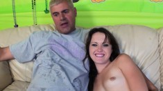 Slender brunette Izzy Ryder has a raging cock plowing her aching slit