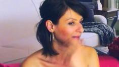 Well endowed mature brunette Kassandra goes solo