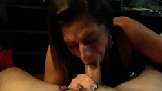 Hot Mature Gives Handjob And Blowjob