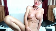 Hot Brunette mature Webcam Masturbation