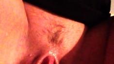 Cute amateur webcam girl masturbating close up to the camera