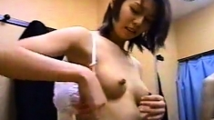 japanese girl in a dressing room