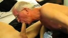 Grandpa suck fuck and fist